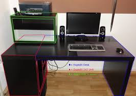 Desktop Computer Desk Expedit Computer Desk Ikea Hackers