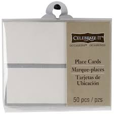celebrate it occasions place cards embossed