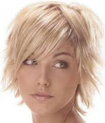 short hairs hairline female short shag hairstyles side and center part great for fine hair