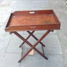 folding oversized wood tray table in espresso wooden tray tables antique butlers tray table folding wooden tray