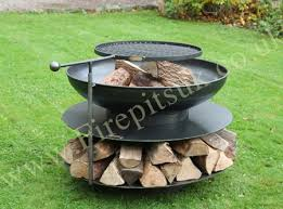 Bbq Firepit Pit Ring Of Logs 90 With Swing Arm Bbq Rack Firepits Uk