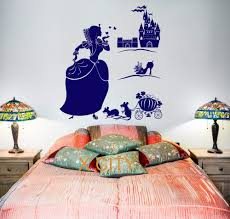 compare prices on cinderella decoration room online shopping buy cinderella magic fairy tale for children girl bedroom wall decal sticker removable vinyl transfer stencil mural