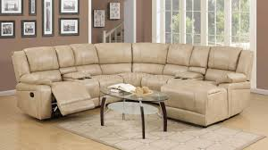 8303 reclining sectional sofa in cream bonded leather w options