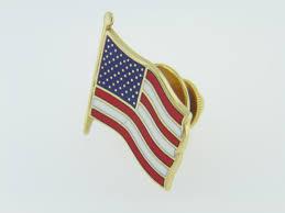 Waving American Flag Patriotic American Flag Red White U0026 Blue Enamel Tie Tack Pin In