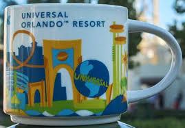 you are here universal orlando resort starbucks mugs