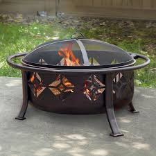 Patio Master Grill by Red Ember Aspen Bronze Round Fire Pit With Grill Grate And Free