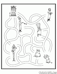 coloring page labyrinth of ratatouille