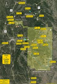 Map Of Custer State Park by The Map Of The Civilian Conservation Corps Ccc In Custer State Park