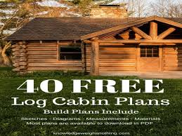 Cabin Plans Free Log Home Plans 40 Totally Free Diy Log Cabin Floor Plans Within