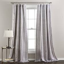 houndstooth home decor amazon com lush decor houndstooth window curtain panel set of 2