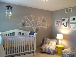 White Tree Wall Decal Nursery by Comfortable Gender Neutral Modern Baby Nursery Design In Grey With