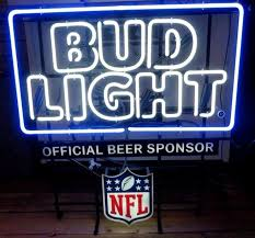 bud light nfl neon sign neon beer signs signs