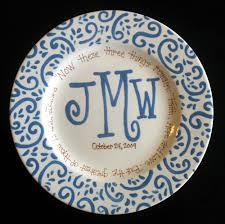 monogrammed plate handpainted platter monogrammed plate wedding gift 36 50