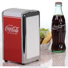 coca cola tall restaurant napkin dispenser diner tabletop