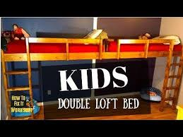 how to build end to end floating loft bed for kids youtube