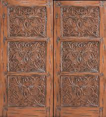 Carved Exterior Doors Carved Chestnut Front Entry Door With Etched Glass