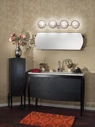simple bathroom vanity light fixtures on cool black sink for
