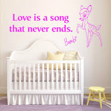 Decals For Walls Nursery by Online Buy Wholesale Bambi Decal Wall From China Bambi Decal Wall