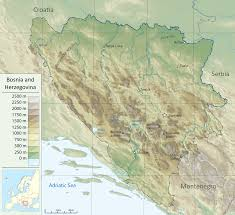 What Is A Topographic Map File Bosnia And Herzegovina Topographic Map Svg Wikimedia Commons