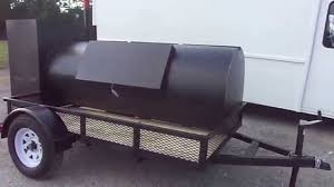 Backyard Classic Professional Charcoal Grill by Wood Charcoal Pit Concession Smoker Grill Trailer Youtube