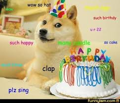 Birthday Dog Meme - doge birthday card top 25 best happy birthday dog meme ideas on