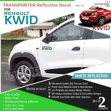 renault kwid white colour renault kwid sticker for renault kwid doors black ebay
