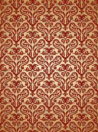 Red Damask Wallpaper Home Decor Damask Red And Gold
