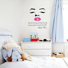 aliexpress com buy portrait of marilyn monroe and inspirational aliexpress com buy portrait of marilyn monroe and inspirational quotes diy vinyl wall wallpaper stickers art home decor mural decal from reliable
