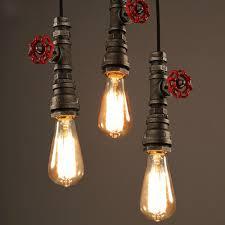 Rustic Pendant Lighting Winsoon 1pc Antique Pipe Rustic Pendant Light Lighting For