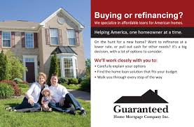 Home Mortgage by Guaranteed Home Mortgage One Sheets U2013 Portfolio
