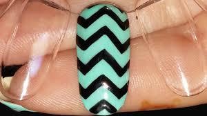 nail art basics chevron zig zag design gel nail polish youtube