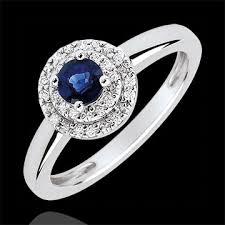 18 carat diamond ring halo engagement ring 0 3 carat sapphire and diamonds