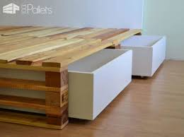 Diy Platform Bed With Headboard by Simple Pallets Bed Diy Pallet Bedroom Pallet Bed Frames U0026 Pallet