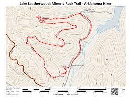 Minneopa State Park Map by Lake Leatherwood Miner U0027s Rock Trail U2013 4 Mi Arklahoma Hiker