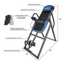 Heavy Duty Inversion Table Innova Itm4800 Heat And Massage Inversion Table Review