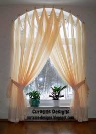 Shower Curtain To Window Curtain Use A Curved Shower Curtain Rod To Make A Window Look Bigger 15