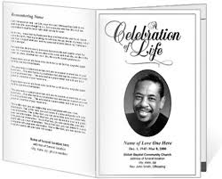 memorial service program memorial service card template