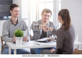 for a job interview young woman arriving job interview business stock photo 561824044