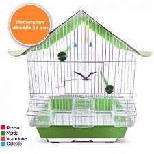 accessori per gabbie gabbia tetto completa di accessori per uccelli canarini pappagalli