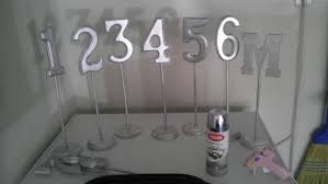silver wedding table numbers diy table numbers paint wooden numbers wedding colors diy
