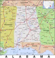 Map Alabama Al Alabama Public Domain Maps By Pat The Free Open Source