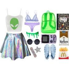 Alien Halloween Costumes Chic Alien Aftermidnight Style Polyvore Featuring Topshop