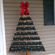 christmas tree with white lights and red bows 100 best outdoor diy christmas decorations prudent penny pincher