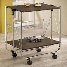 Wheeled Kitchen Islands Inimitable Stainless Steel Rolling Kitchen Island With Black
