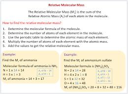 relative molecular mass u0026 relative formula mass solutions