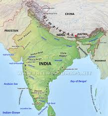 South Asia Political Map by India Physical Map
