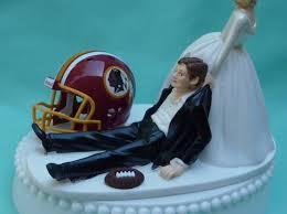 football wedding cake toppers washington redskins dc football themed wedding cake topper