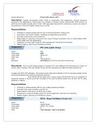 Testing Tools Resume Vino Kr Resume