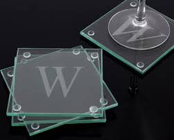 coaster favors initially yours personalized glass coasters