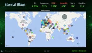 app finds more than 50 000 computers vulnerable to eternalblue exploit